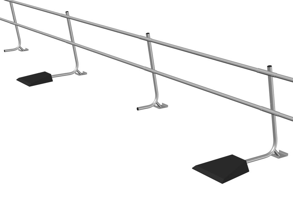 Freestanding Guardrail System Supporting Image