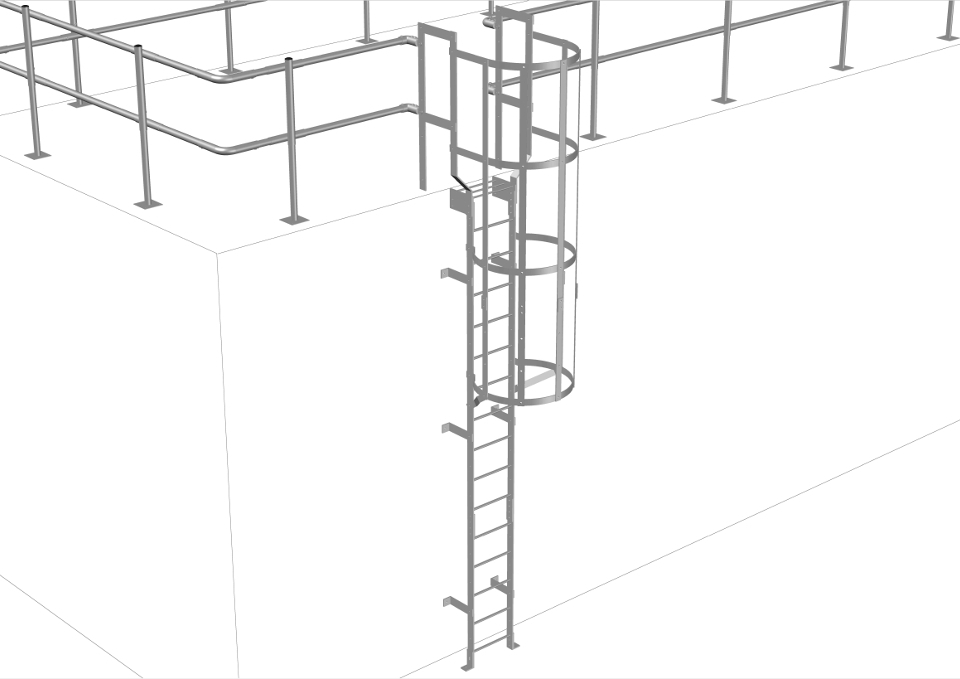 Acces Vertical Of Vertical Access Ladder Kit Roofco