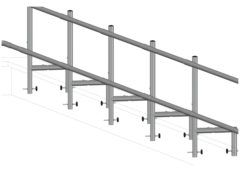 Parapet Guardrail System Supporting Image